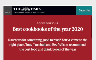 The Sunday Times: best cookbooks of 2020