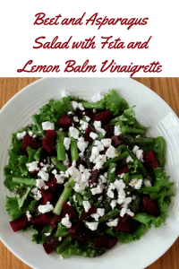 Beet and Asparagus Salad with Feta and Lemon Balm Vinaigrette