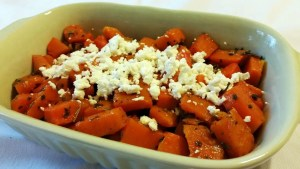 Roasted Butternut Squash with Sage and Goat Cheese