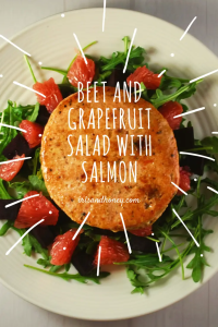 Beet and Grapefruit Salad with Salmon