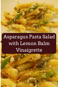 Asparagus Pasta Salad with Lemon Balm Vinaigrette