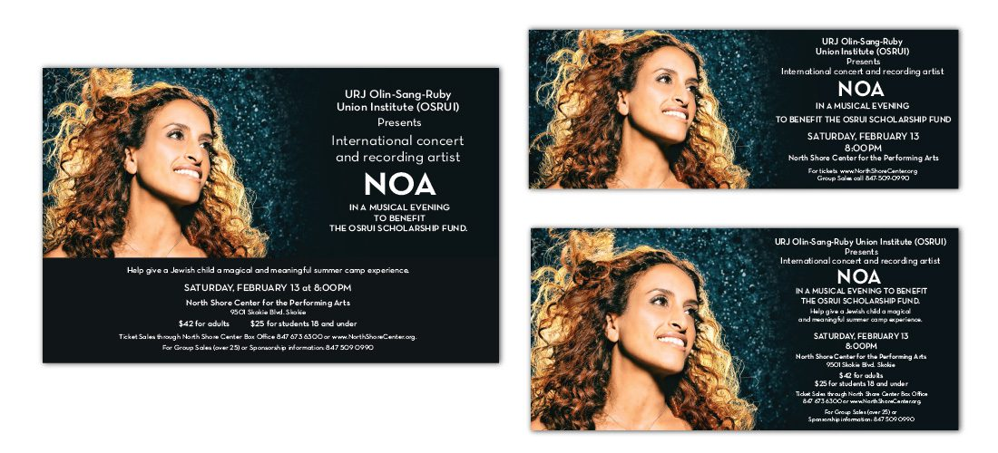 Advertising for NOA Concert