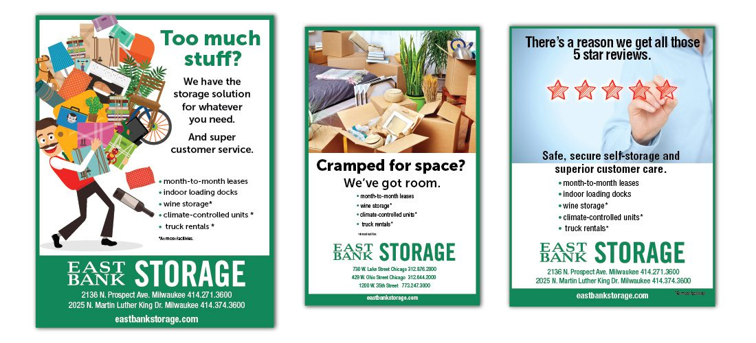 Ads for East Bank Storage