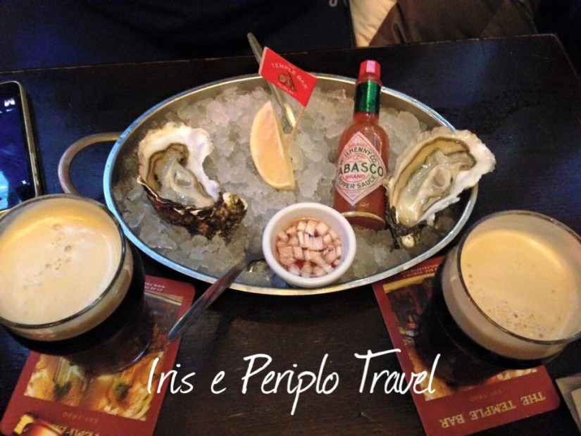ostriche con tabasco al Temple Bar