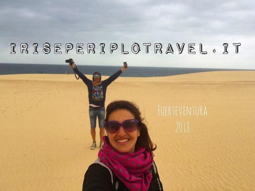 Selfie a Fuerteventura, iris e periplo travel