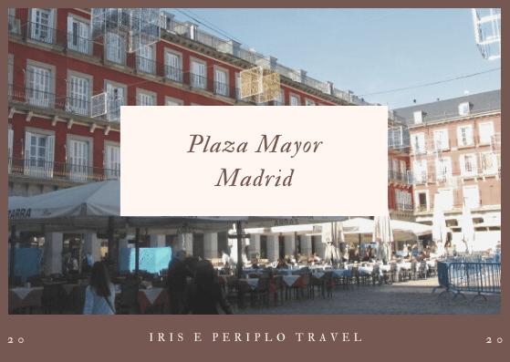 Copertina con il titolo dell'articolo. alla scoperta di Madrid