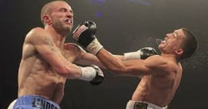 Selby in action against Lindsay on a Frampton undercard