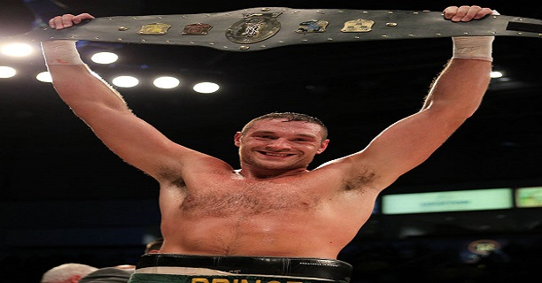 Tyson Fury after winning the Irish Title a belt he called his 'World Title'