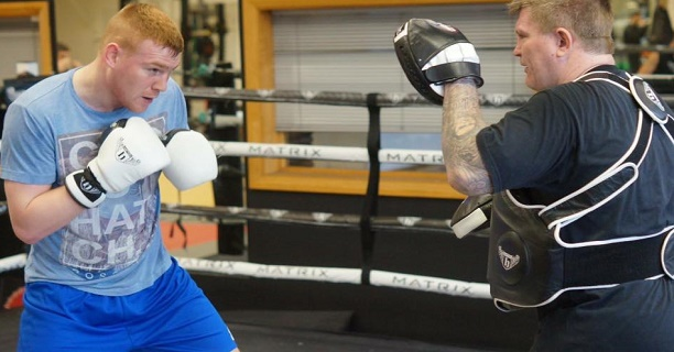 Chris Blaney is in Manchester learning off British fight legend Ricky Hatton