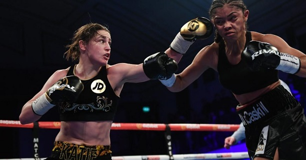 katie taylor punches jessica mccaskill