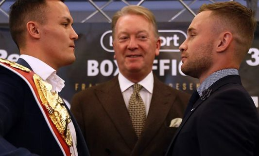 Warrington and Frampton go head to head for the IBF world title on December 22
