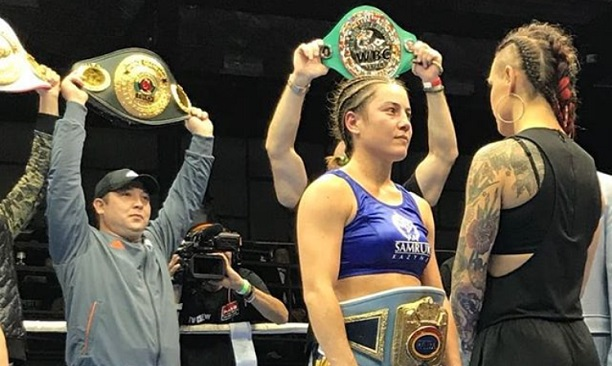 Wahlstrom challenges Sharipova in the ring after the Russian's last fight