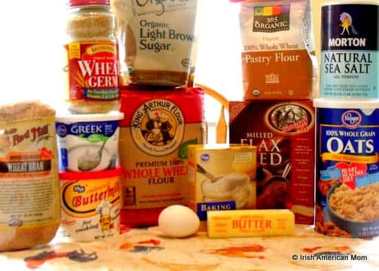 Ingredients for Irish brown soda bread without using a pre-made mix