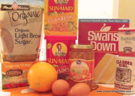 Ingredients for tea brack