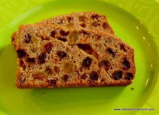 Slices of Irish tea brack
