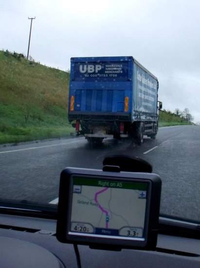 Truck or lorry on Northern Irish road
