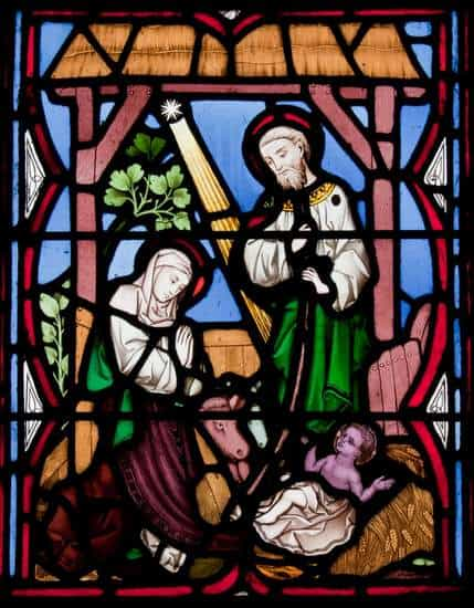 Our Lady's Island Church of the Assumption West Aisle Window Nativity