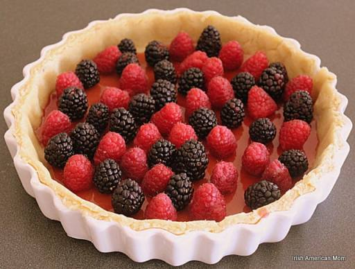 Berries in pastry shell