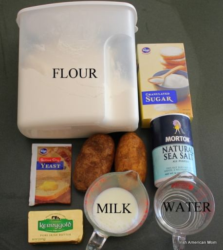 Ingredients for Potato Bread