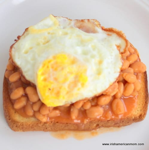Fried Egg with Beans on Toast