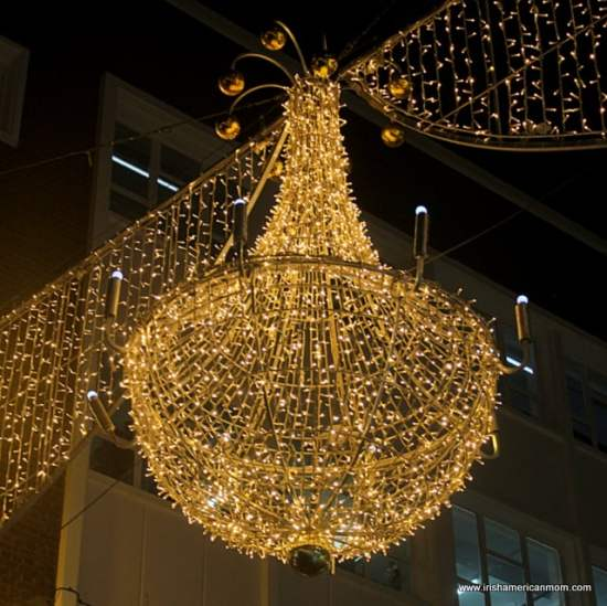Chandelier Lights on Grafton Street