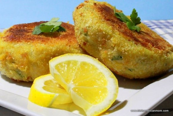 Breaded fried fish cakes from Ireland