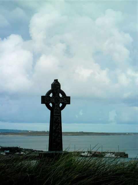 Celtic Cross on Inisheer, Aran Islands