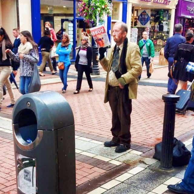 Paddy Finnegan in Grafton street