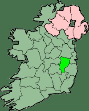 Map of County Kildare, Ireland