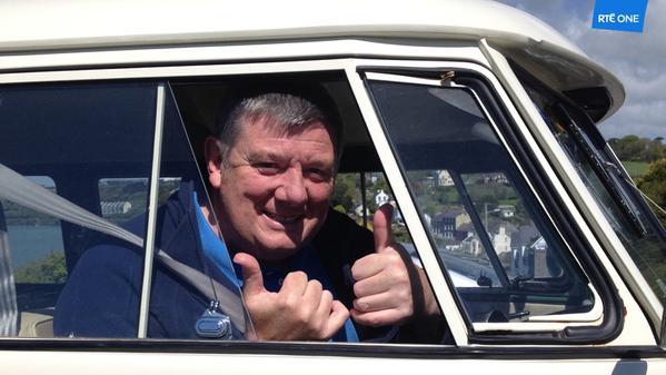 John Creedon in his VW Van