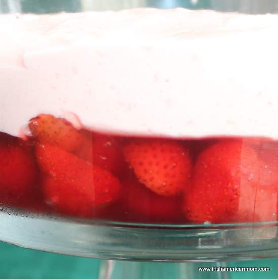 Strawberry mousse layer