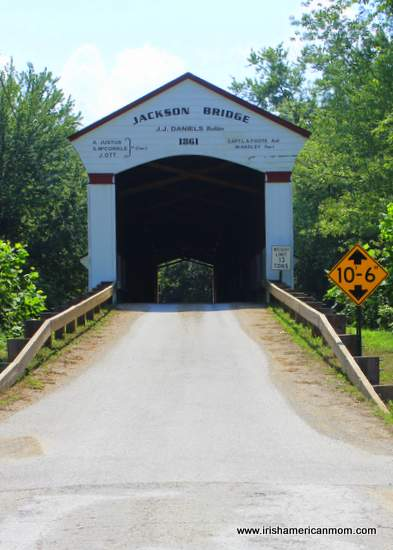 1861 Wooden Bridge in Indiana, USA