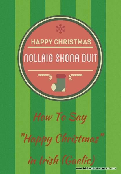Happy Christmas in Irish