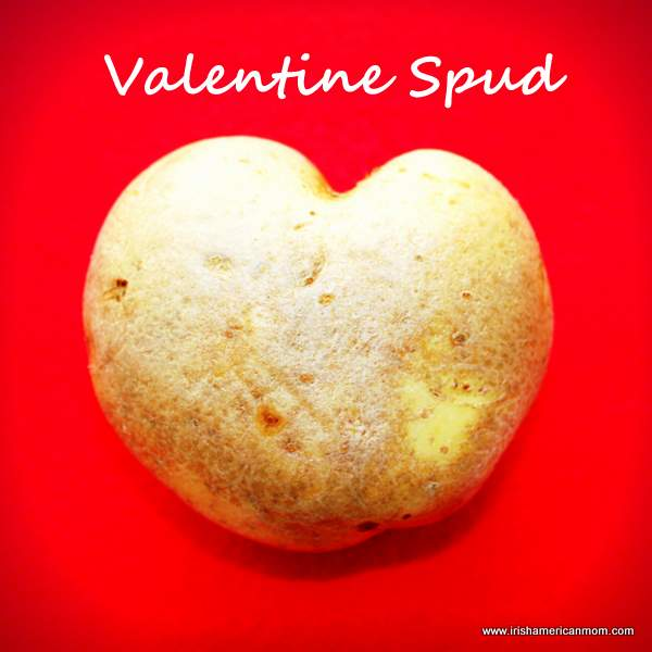 A heart shaped potato or spud for Valentine's Day