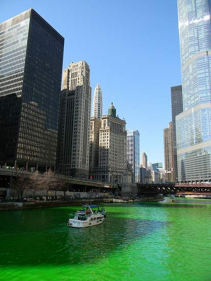 Chicago River turned green for St. Patrick's Day