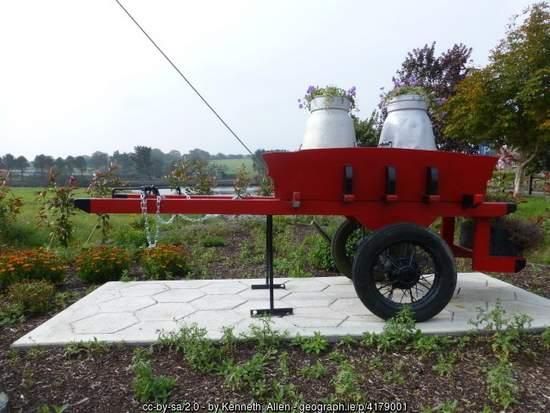 Churns on a cart near Clonakilty County Cork - Irish roadside art
