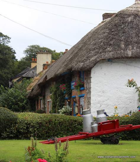 Milk churns on display in Adare County Limerick