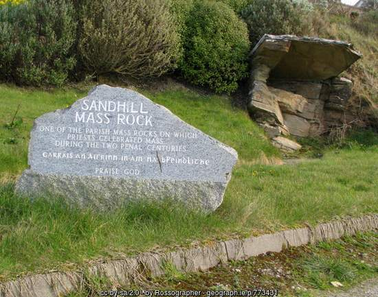 Sandhill Mass Rock near Dunfanaghy County Donegal
