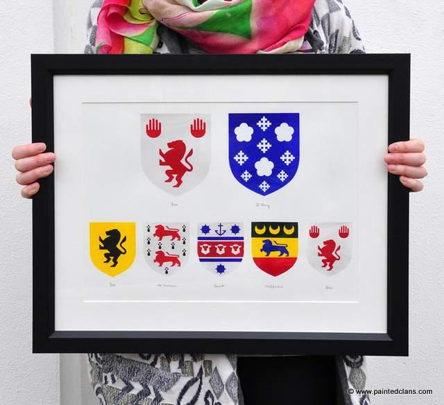 Irish clan crest artwork by Painted Clans