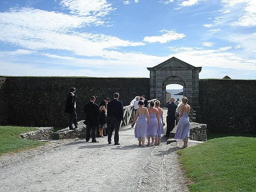 A wedding at Charles' Fort, Kinsale, County Cork, Ireland