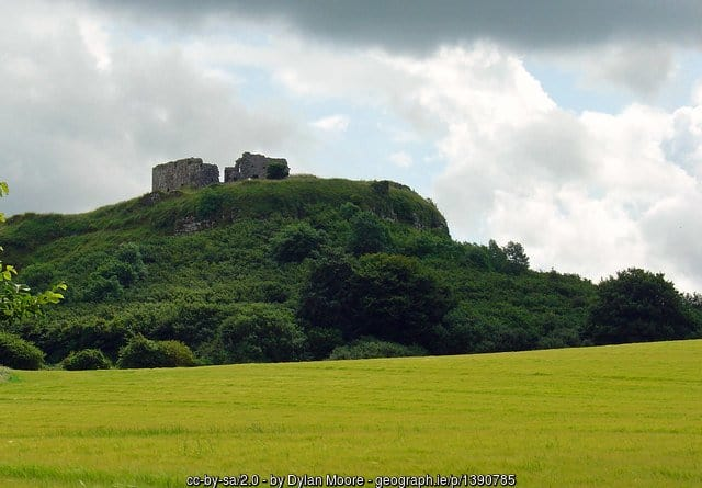 The Rock of Dunamase sits 150 feet high on a rocky outcrop in County Laois