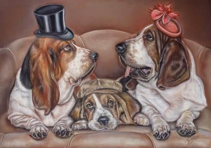 Basset Hound Family Dog Portrait