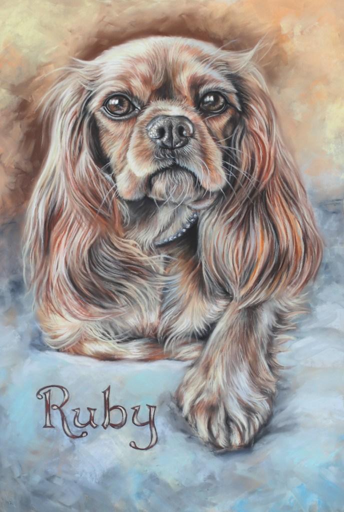 Ruby Spaniel Painting