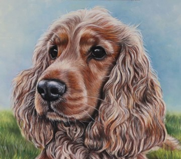 cocker spaniel portrait painting