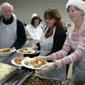 Volunteers serving the homeless