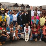 Bishop Denis Nulty and Papal Nuncio, Archbishop Jude Thaddeus Okolo with the African Catholic Family in Kildare and Leighlin.