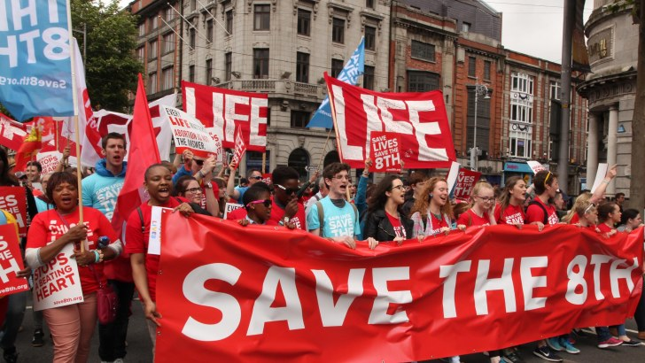 Tens of thousands march in Rally for Life