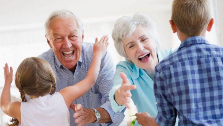 Lucky grandparents, lucky children