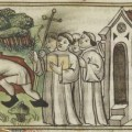 Medieval view of the Purgatory cave