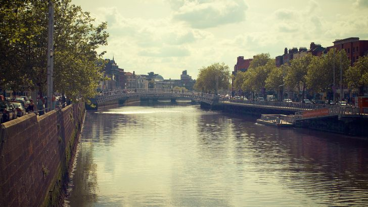 The Liffey flows out of the past into the future